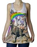 Shop Delfina Unicorns Chasing T-Rex Funny Women's Tank Top