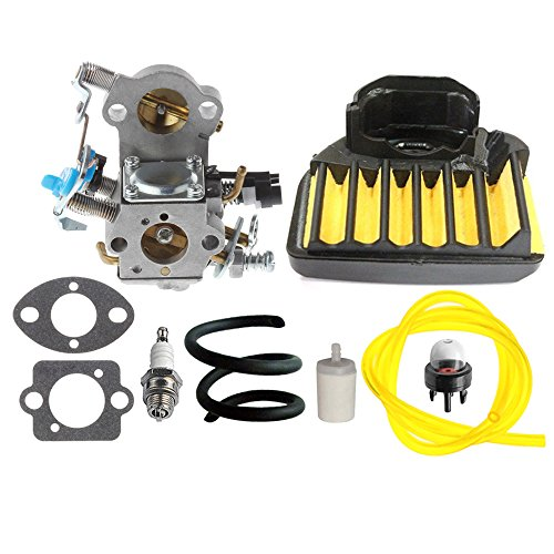 Hipa Wta 29 Carburetor With Air Filter Fuel Line Filter Spark Plug For Husqvarna 455E 455 Rancher 460 461 Gas Chainsaw