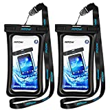 Mpow Floating Waterproof Case, Waterproof Pouch Underwater Dry Bag for Phone up to 5.7 inch 2-PACK
