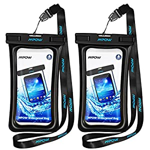 Mpow Floating Waterproof Case, IPX8 Waterproof Pouch Underwater New Type TPU Dry Bag for iPhone7/7plus/6s/6/6s plus Samsung galaxy s8/s7 LG V20 Google Pixel HTC10 (2-Pack)