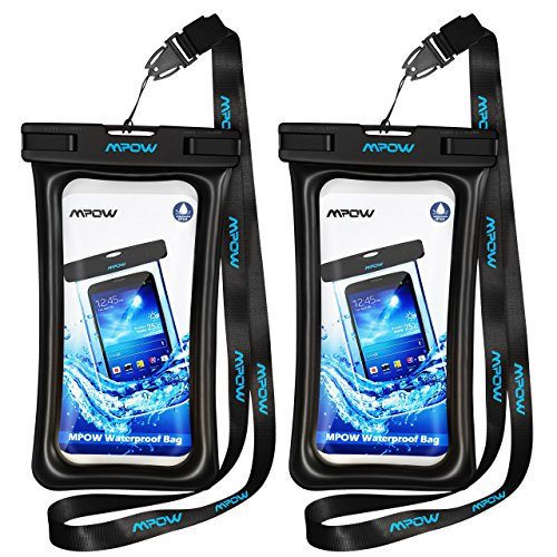 Mpow Floating Waterproof Case, New Type TPU Waterproof Pouch Underwater Dry Bag for Phone up to 5.7 inch 2-Pack