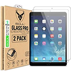 [2 Pack] Screen Protector for Apple iPad Air, Air 1, iPad Air 2, iPad Pro Tempered Glass Film 9H HD, Premium…