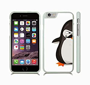 iStar Cases? iPhone 6 Case with Angry Animated Penguin with Mustache Design , Snap-on Cover, Hard Carrying Case (White)