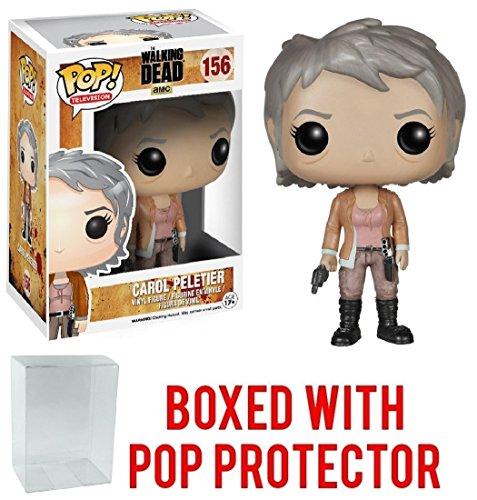 Funko Pop! TV: The Walking Dead - Carol Peletier #156 Vinyl Figure (Bundled with Pop Box Protector Case)