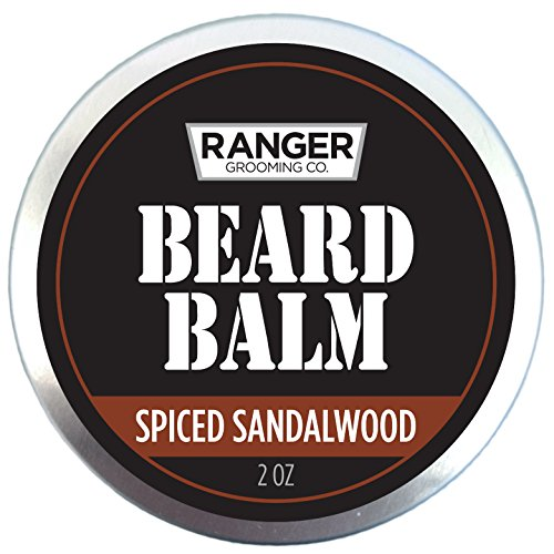 Spiced Sandalwood Beard Balm by Leven Rose, 100% Pure Natural Organic Leave In Conditioner with Natural Oils for Groomed Beards and Mustaches 2 oz