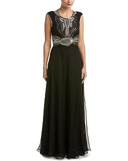 195e3fc1ec Amazon.com  Parker Black Natalia Sequined Tiered Sleeveless Evening ...