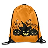 Sokie Happy Halloween Gym Drawstring Backpack/Travel Bag