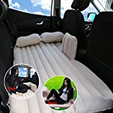 QXXZ Car Travel Inflatable Mattress Camping Auto Air Bed Inflation Back Seat Extended Couch For Suvs And Sedans And Trucks Beige