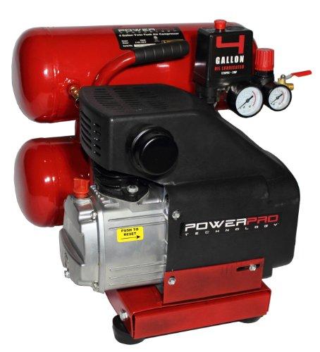 PowerPro 22040 4-Gallon Twin Tank Oil Lubricated Air Compressor