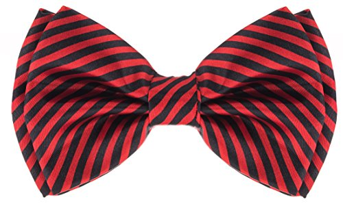 Bowtie - Striped - Red & Black ()