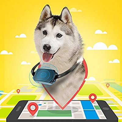 Decdeal Smart Pet Tracker GPS Locator Pet GPS Tracker Pet Outdoor Waterproof IP67Real Time Activity Monitor Portable APP Control for Dogs