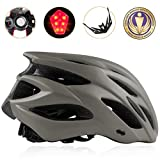 Shinmax Bike Helmet, CPSC Certified Adjustable Lighted Bike Helmet Specialized Cycling Helmet Men&Women With Visor&Rear Light Review