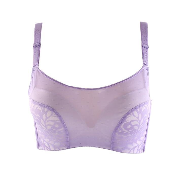 Ropa interior de mujer/Sexy malla recoger su ropa interior de leche/sostén-