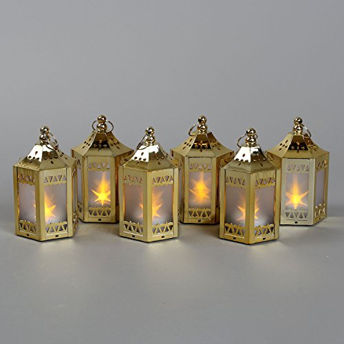 Lamplust gold mini battery operated plastic lanterns