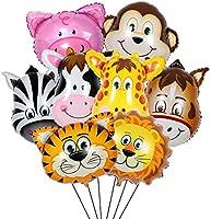 Cartoon Tiger Lion Monkey Giraffe Cow Jungle Animal Balloons Inflatable Toys New