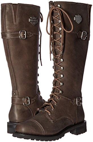 Harley Womens Long Leather Stone Boots Beechwood Davidson r58qxwFr