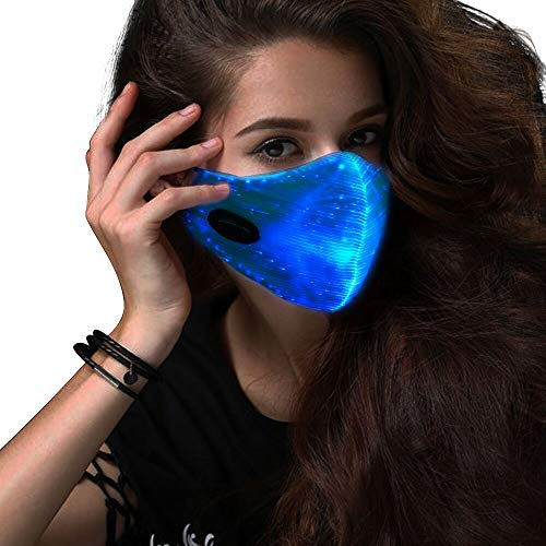 SAFEBAO LED Rave Mask 7 Colors Luminous Light