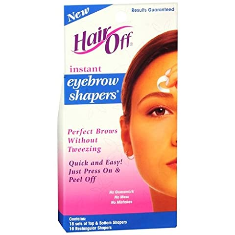 Hair Off Instant Eyebrow Shapers Cold Wax Strips