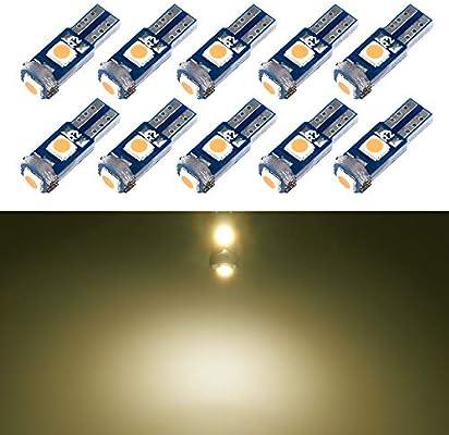 3 LED T5 286 WEDGE SMD CANBUS ERROR FREE GREEN BULBS DASHBOARD CLOCKS 12V 0.5W