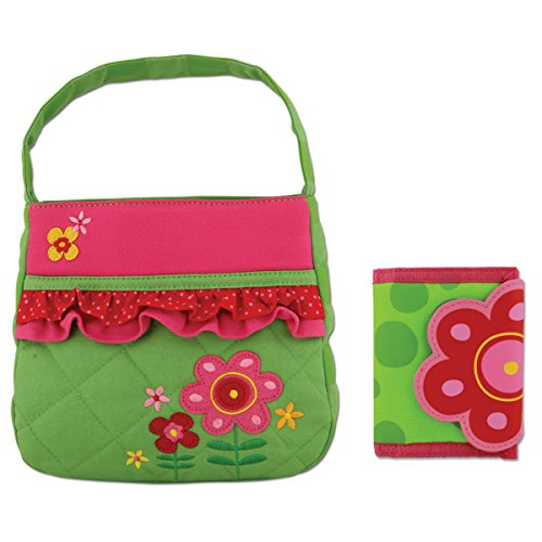 Stephen Joseph Quilted Flower Purse and Wallet for Girls