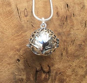 c09e278f303 Kit Bola mexicain - Collier en argent - Avec pendentif en forme de cage -  Boule