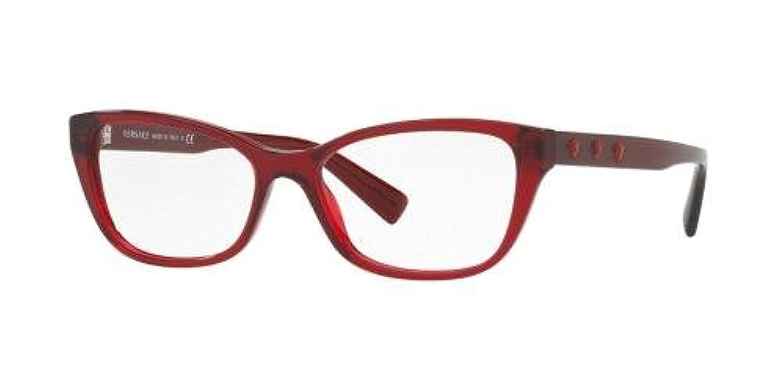 a6b6d092d4e9 Eyeglasses Versace VE 3249 A 388 TRANSPARENT RED  Amazon.co.uk  Clothing