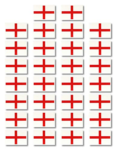 Fiomia England National Flag Sticker of World Cup Temporary Tattoo Face Decal Body Glitter Country Flag Waterproof Removable 30Pcs (Union Jack Tattoos)