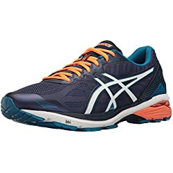 ASICS Men's Gt-1000 5 Running Shoe, Indigo Blue/Snow/Hot Orange, 11 M US