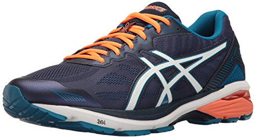 ASICS Men's Gt-1000 5 Running Shoe, Indigo Blue/Snow/Hot Orange, 9 M US