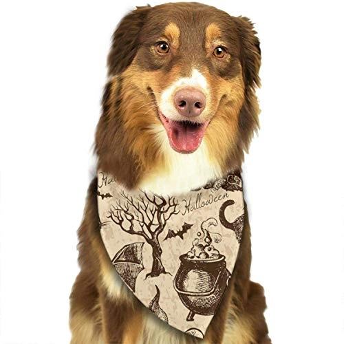 BAGT Pet Dog Bandana Scarf Pack Triangle Bibs Cat Bat Pumpkin Halloween Party Pattern Printing Kerchief Set Accessories for Small to Large Dogs Cats Pets ()