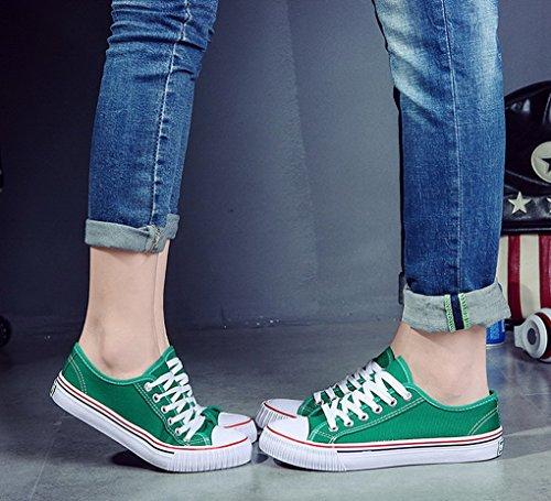 Toile Basses Basket en Sneakers Femme Lacet Femme Chaussures Evedaily qTA4Fzn