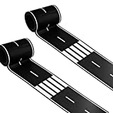 2 Rolls Road Tape Black Total 66 Feet Creative Traffic  for Kids Birthday Car Party Gift 33'' x 2.4'' Each Roll