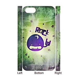 3D Bumper Plastic Case Of Rock & Roll customized case For Iphone 4/4s