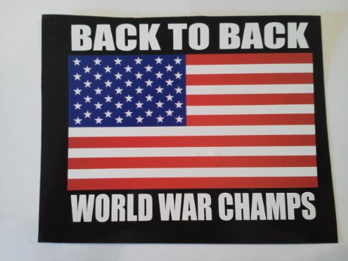 Back to Back World War Champs Sticker -