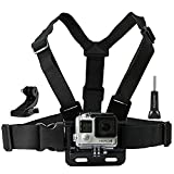 Zoukfox Chest Belt Strap Harness Mount, Camera Headstrap Mount + Quick Clip for Gopro Hero 4 Hero 3 Hero 3+ Hero 2 (Chest Strap)