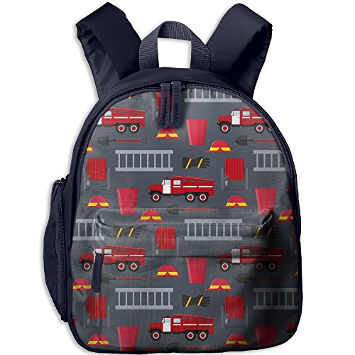 SARA NELL Kindergarten Backpack Firefighter Profession Equipment And Tools Children School -