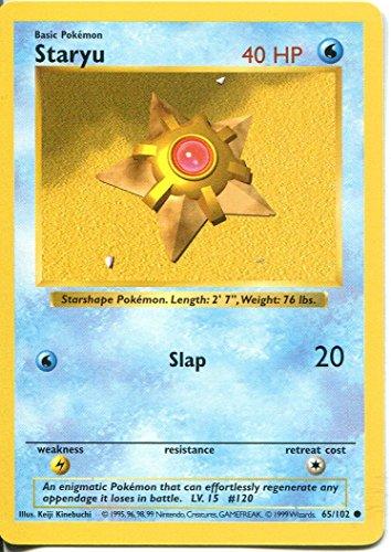 Pokemon Base Set Shadowless Common Card #65/102 Staryu