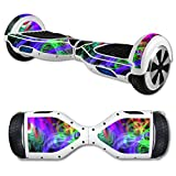 MightySkins Protective Vinyl Skin Decal for Self Balancing Scooter Board mini hover 2 wheel x1 razor wrap cover sticker Neon Splatter