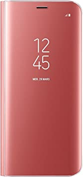 Tonedo Galaxy S8 Funda, Clear S View Standing Flip Cover ...