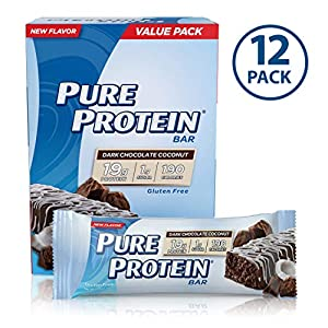 Pure Protein Bars, Healthy Snacks to Support Energy, Dark Chocolate Coconut, 1.76 oz,
