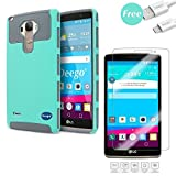 LG G Stylo Case/ LG G Stylus (LS770), Deego 2in1 Hybrid Heavy Duty Cover, Dual Layer Armor Full-Body Protective Impact Resistant Case With Tempered Glass Screen Protector And Free USB Cable
