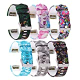 Fitbit Charge 2 Band,Silicone Adjustable Replacement Sport Strap Printed Bands with Classic Buckle for Charge2 HR Heart Rate + Fitness Wristband