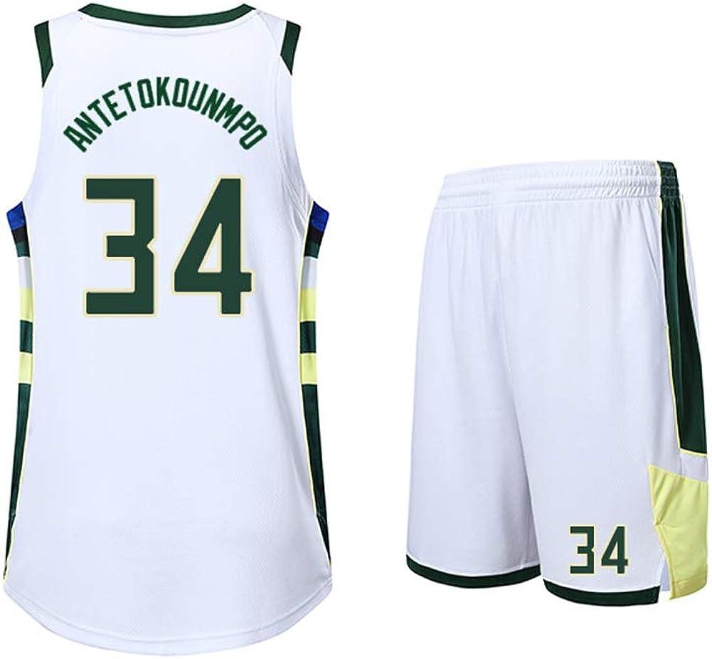 Camiseta de Baloncesto Antetokounmpo para Hombre FNBA # 34 ...