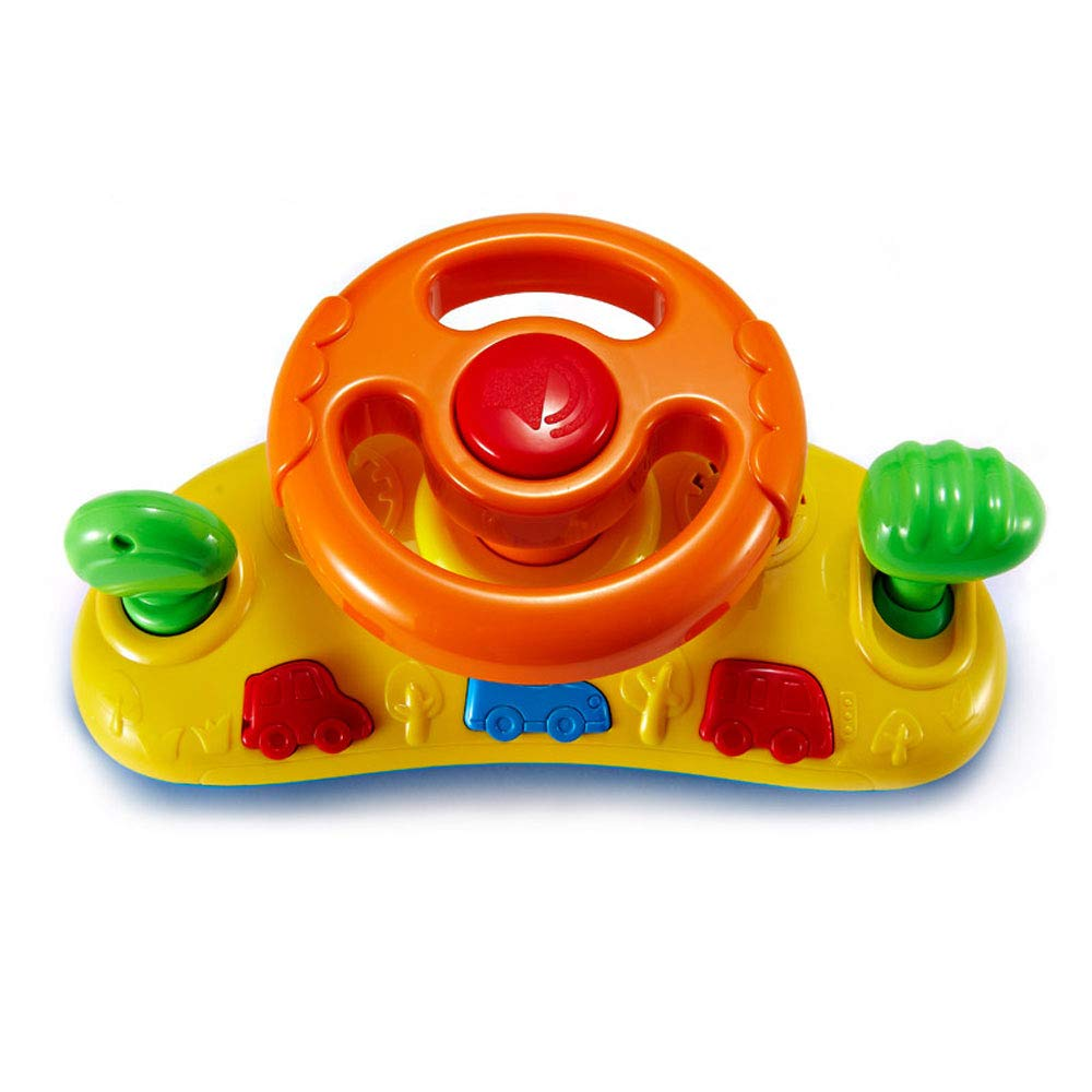 Jian E -// Toys - Early Education Steering Wheel Toy Simulation Experience Driving Game Fun Scene Male and Female Baby Toys - Two Colors Random Delivery /-/