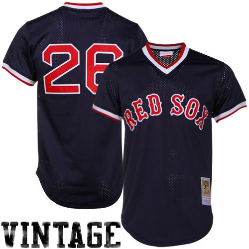 Ness Mlb Baseball Jersey - Wade Boggs Red Sox 1991 BP Jersey Mitchell & Ness 36