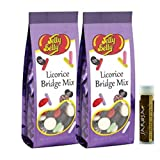 Jarosa's Gift Set of Jelly Belly FACTORY SEALED Licorice Bridge Mix 6.75 oz Gift Bag - Pack of 2 with a Jarosa Bee Organic Chocolate Bliss Lip Balm