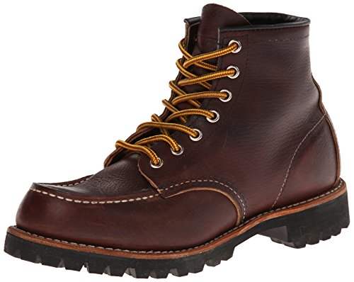 Boots 08146 6 Red Mens Leather Marrone Marrone Inch Wing Roughneck wB0EIxEgq