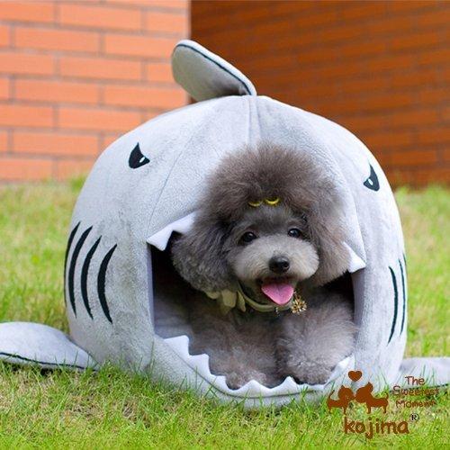 Nido cesta cojín cama caseta Transporter casa en forma tiburón para arena de perro gato animales domésticos: Amazon.es: Productos para mascotas