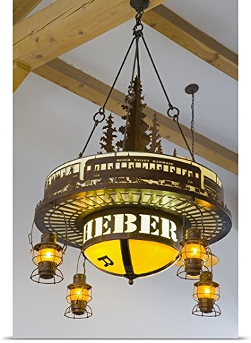 ornate lighting ornate garden greatbigcanvas poster print entitled ornate light fixture at heber valley railway museum by great big canvas amazoncom