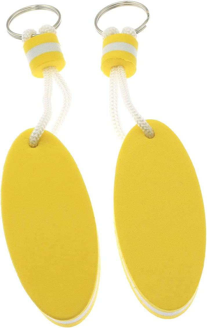 ZRM/&E 4pcs Oval Floating Key Ring Buoyant Keychain for Marine Boat Sailing Kayak Surfing Water Sports Gift 2 x Yellow, 2 x Orange